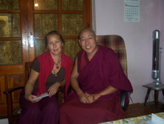 Donna & Nechung Kuten, oracle to His Holiness the Dalai Lama