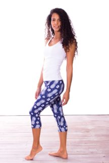 Pineapple Capri Yoga Pants