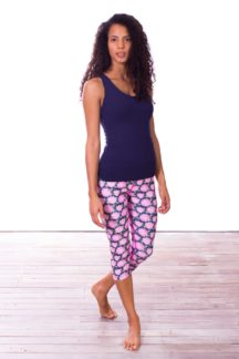 Pink Chrysie Capri Yoga Pants