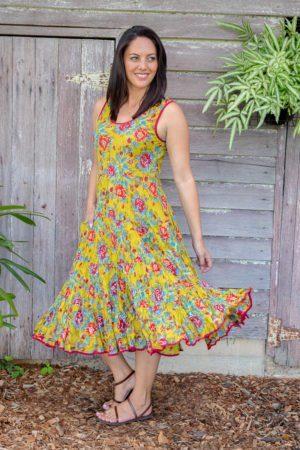Womens - Dresses - Flamenco Dress - Olive Garden