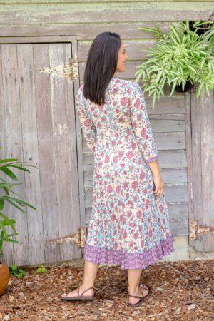 Genevieve Dress - Ivory Garden