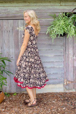 Jalabi Dress - Black Magnolia