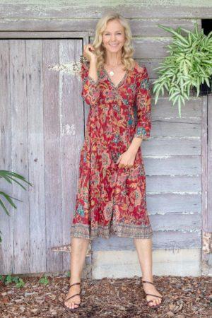 Genevieve Dress - Autumn Garden