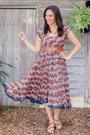 Jalabi Dress - Chinese Lotus