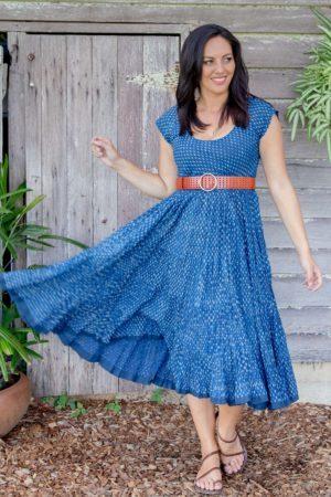 Jalabi Dress Indigo Tiny Jahl