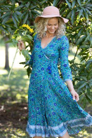 Genevieve - Peacock Blue