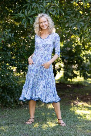 Flamenco Dress with Sleeves - Whitehaven