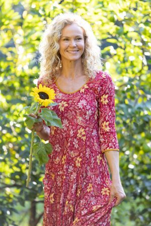 Flamenco Dress with Sleeves - Passionflower