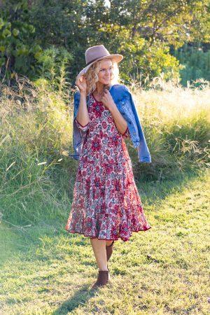 Flamenco Dress with Sleeves - Ayana Earth